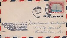CAMDEN NJ SEP 15 1929 FFC AIR MAIL COVER TO BETHLEHEM, PA