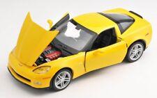 BLITZ VERSAND Chevrolet Corvette Z06 2007 gelb yellow 1:24 Welly Modell Auto NEU