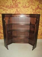 Ethan Allen Corner Bookcase Top Antiqued Tavern Pine Custom Room Plan 12 4007
