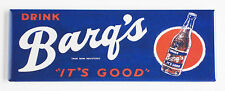Barq's Root Beer FRIDGE MAGNET (1.5 x 4.5 inches) soda sign cola bottle label