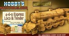 4-6-0 EXPRESS LOCO & TENDER Matchstick Model Kit - NEW steam train engine