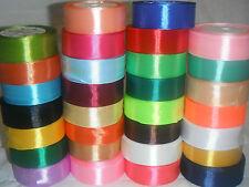 couleurs assorties 100m // roll FREE P/&P Double face ruban de satin 3mm