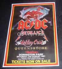 AC/DC-Monsters Of Rock,Donington Park UK,Sat..17th August 1991 concert poster