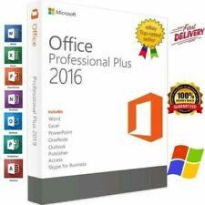 Microsft®Office 🔥 2016 Pro Plus 32 bit/64 bit for 5 PC Devices 1 KEY 🔐