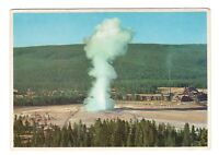 Old Faithful Geyser Yellowstone National Park Unused Vintage 4x6 Postcard AN88