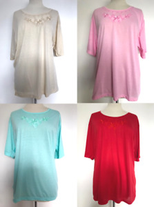 NEW Womens Top T Shirt Essential Classic Ladies Plus Size 18-32 free P&P