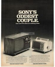 1970 SONY Portable Television Model TV-930U, TV-510U VTG PRINT AD