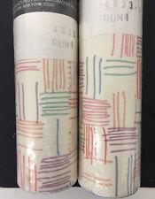 Vtg Waverly Aerobics geometric wallpaper Lot of 2 sealed rolls - No. 4033A