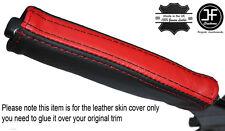 BLACK & RED LEATHER EMERGENCY E BRAKE HANDLE COVER FITS CAMARO FIREBIRD 93-02