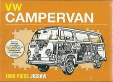 VW CAMPERVAN 1000 PIECE JIGSAW PUZZLE VOLKSWAGON CAMPER VAN MODEL TYPE 2 T2 NEW