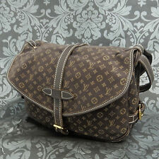 Rise-on LOUIS VUITTON Monogram Mini Lin Dark Brown Saumur 30 Shoulder Bag #2