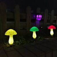Outdoor Solar Garden Lights, Solar Powered Mushroom Lights, LED Solar Decor
