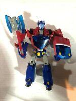 Transformers Animated Deluxe Class Cybertron Mode Optimus Prime Figure Hasbro