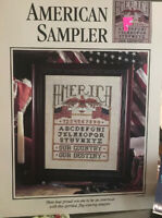 Americam Sampler- Cross Stitch Pattern- SERPREM4-1994
