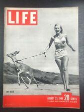 LIFE Magazine: Olympics, Fashion, Animals, August 23rd 1948