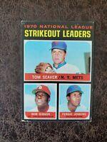 (1) 1971 Topps Baseball Tom Seaver Bob Gibson #72  ERA Leaders  - New York Mets