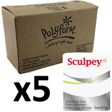Sculpey Polymer Clay - WHITE - Box of 5 x 57g - Just $3.30 per Block