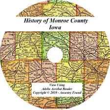MONROE County Iowa IA - History & Genealogy - Albia Eddyville lovilia IA  CD DVD