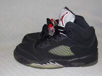 Youth 4 Y Nike Air Jordan 5 Retro OG BG Black Mtllc Silver Sneakers 845036-003