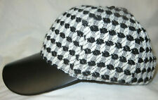 Kensie Black White Baseball Cap Hat One Size NEW