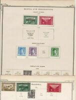 bosnia & herzegovina stamps on 2 album page ref 13432