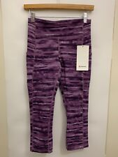 f9862eaf83 Lululemon Speed Up Crop NWT Size 6 SDWM Lavender 21†Inseam Geometric Full  On