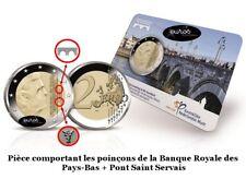 Coincard 2 euros BU commune PAYS-BAS 2017 - avec 2 Poinçons