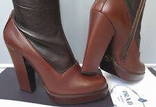 Prada women's leather heeled boots - made in Italy size 7UK (EU40) - SALE!