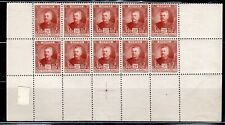 FRANCE EUROPE MONACO  STAMPS BLOCK MINT  HINGED PARTIAL SHEET  LOT 8030