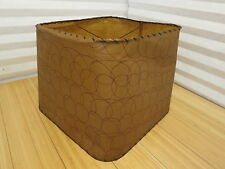 Vintage Mid Century Era Pattern Rawhide Shade Brown Unique
