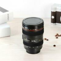 Travel Coffee Mug Cup Stainless Camera Lens Cup Keep Warm Vacuum Cup Mug Tea