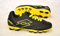 LOTTO SPIDER VII  FOOTBALL BOOTS FG BLK/YLW BNIB JUNIOR SIZES 4.5 TO 6 RRP £25