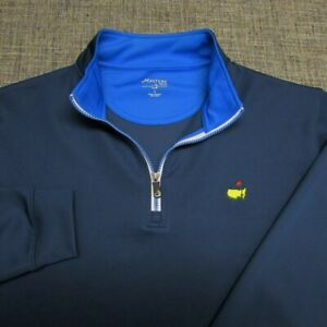 MASTERS TECH POLY SPANDEX  1/4 ZIP GOLF PULLOVER--L--MASTERS-EXCEPTIONAL QUALITY