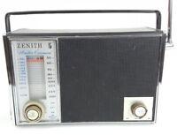 VINTAGE 1969 ZENITH ROYAL 92 WEATHER COMMANDER PORTABLE RADIO PARTS