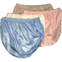 Vintage Sz 10 Hanes Second Skin Panties Shiny Pink/ Blue Nylon Wet Look Sheer 4
