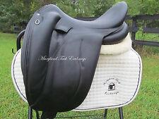 """18.5"""" DEVOUCOUX MENDIA calfskin black monoflap dressage saddle-2011 Model"""