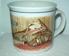 VTG OTAGIRI  Ruth Pengal Stoneware MUG  FLY FISHING TROUTJapan COFFEE CUP TEA