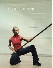 """PUBLICITE ADVERTISING 045  2003  NIKE WOMEN  vetements de sport   """" super héros"""""""
