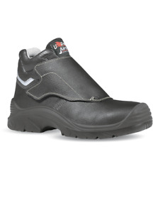 U Power Bulls Welding Safety Boots Mens Black Aluminium Toe Caps UPower