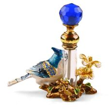 4ml Perfume Bottle Vintage Empty Metal Bird Glass Empty Container Decor