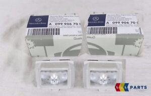 NEW GENUINE MERCEDES BENZ MB C CLASS W205 NUMBER LICENSE PLATE LED LIGHTS 2PCS