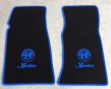Autoteppich Fußmatten für Alfa Romeo Spider Fastback 1969-1983 blau Neu 2teilig