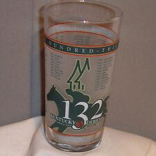 Kentucky Derby 132 Churchill Downs Horse Racing Drinking Glass 2006