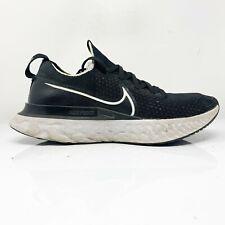 Nike Womens React Infinity Run Flyknit CD4372-002 Black White Running Shoes Sz 9
