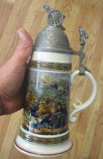 Imperial German Reservist Style Lidded Beer Stein, Bavaria W. German Goebel