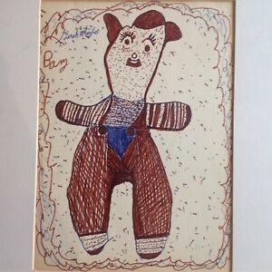 Sarah Mary Taylor Folk Art Outsider Drawing  Quilt Maker & Self-taught Artist