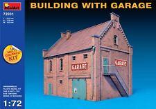 MiniArt 1/72 72031 Building w/Garage (Multi Colored Kit, WWII Military Diorama)