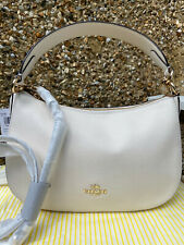 Brand New Coach Sutton Leather Shoulder Crossbody Bag Chalk White