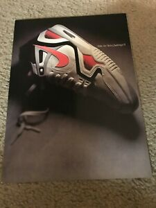 Vintage 1990 NIKE AIR TECH CHALLENGE II 2 Tennis Shoes Poster Print Ad AGASSI