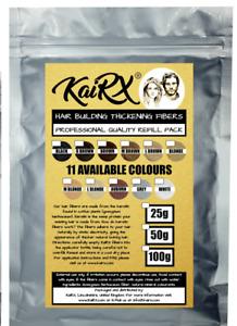 KaiRX 100g Premium Quality Keratin Hair Thickening Fibers Refill Pack Fibers UK